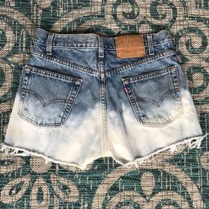Levis 505 Upcycled ombré style high waisted shorts
